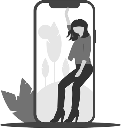 women icon in phone